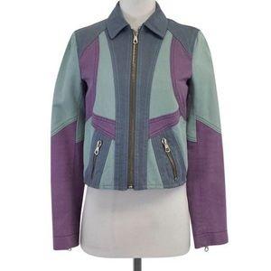 Marc Jacobs Purple & Blue Denim Jacket